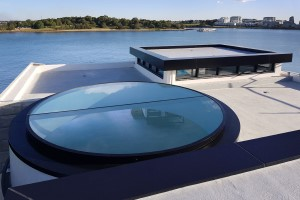 3800mm Circular Glass Skylight with Mullion in Gladesville NSW