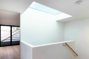 large glass skylight
